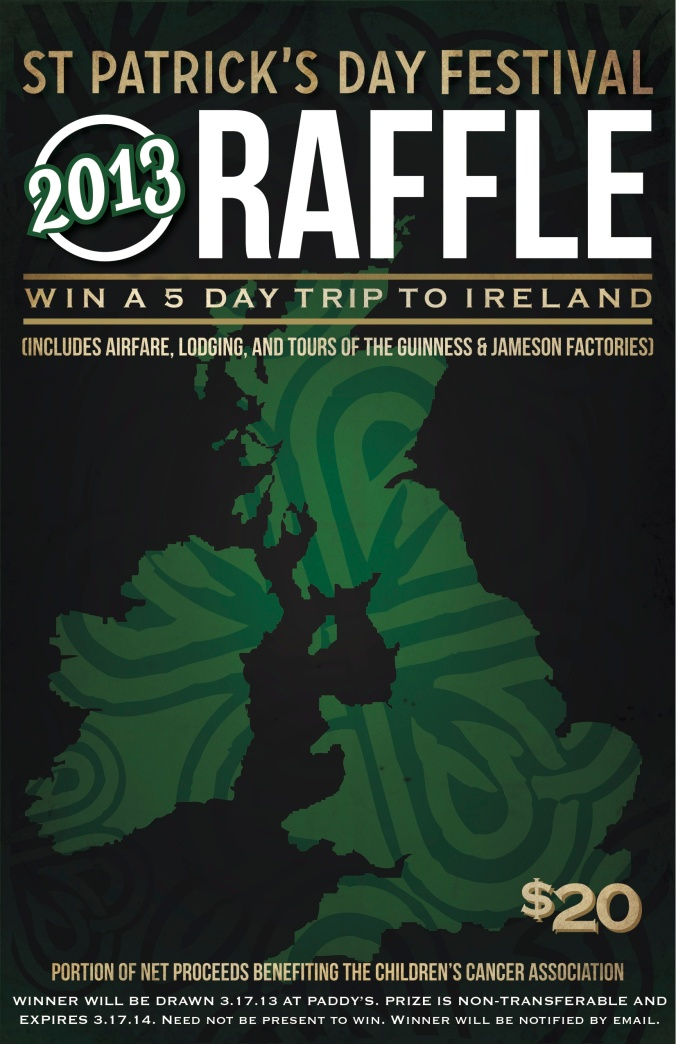 Raffle poster and table top