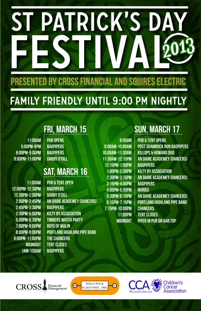 St Paddy's Poster - schedule-01