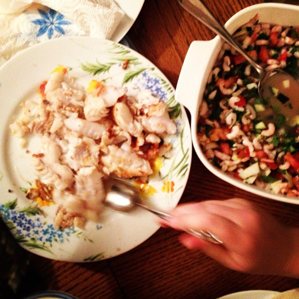 ceviche, rockfish and salsa! photo by Allyn.