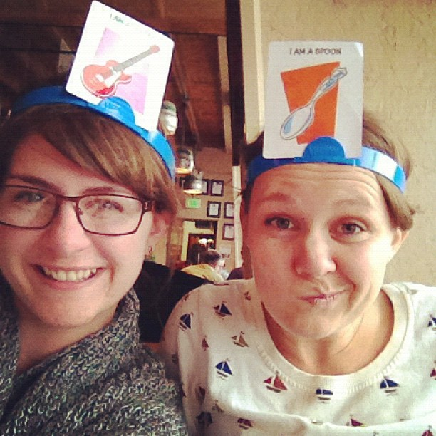 hedbanz is fun- especially for grown women.