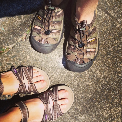 Just a couple of nerd sandals in love.