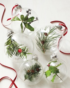 I plan on making some of my own ornaments with different types of filling! Nature inspired via Martha