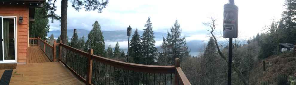 View from the Cabin. Easily one of the prettiest things to wake up to in the PNW.