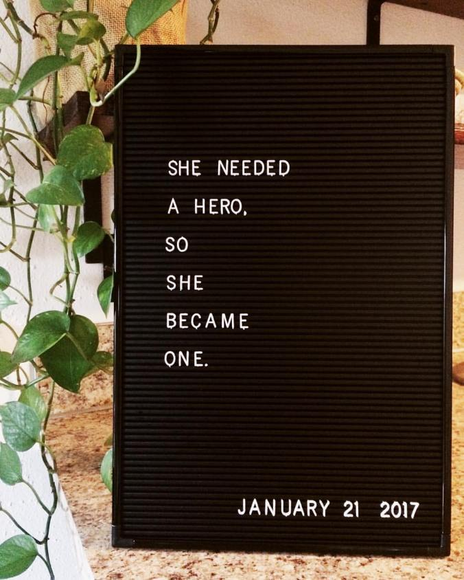 She needed a hero, so she became one