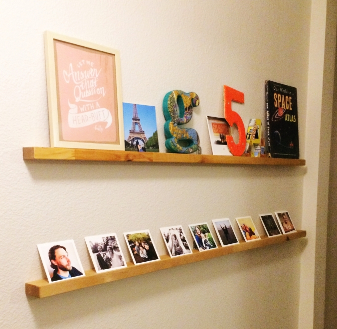 Easy DIY Photo ledge
